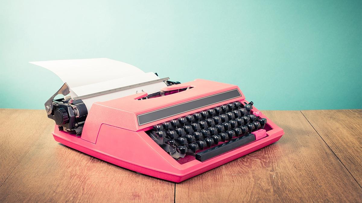 Kontakt - Schreibmaschine