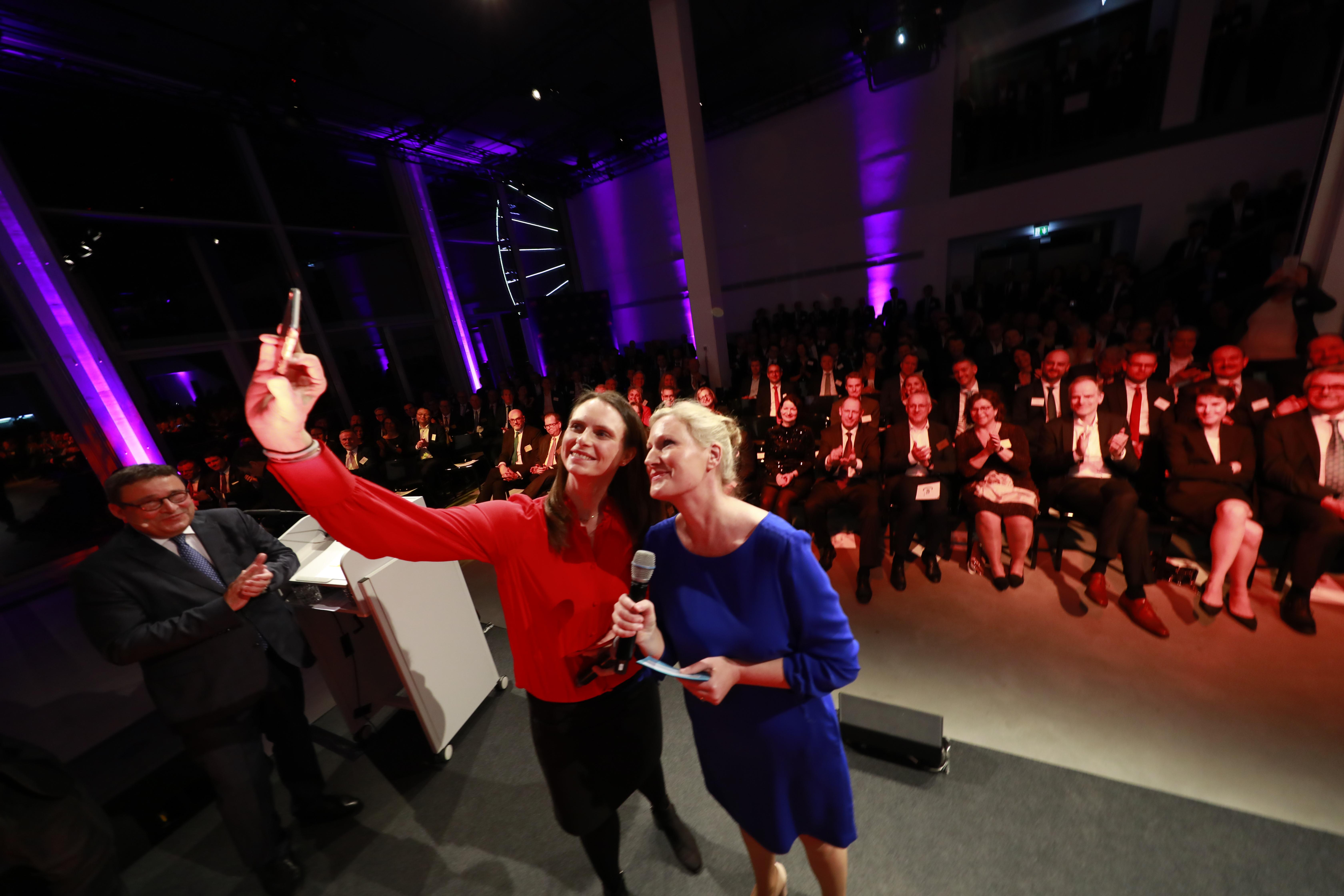 Ein Selfie muss sein - mit dem Publikum