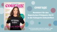 Bayerischer Printpreis 20/21: Courage nominiert