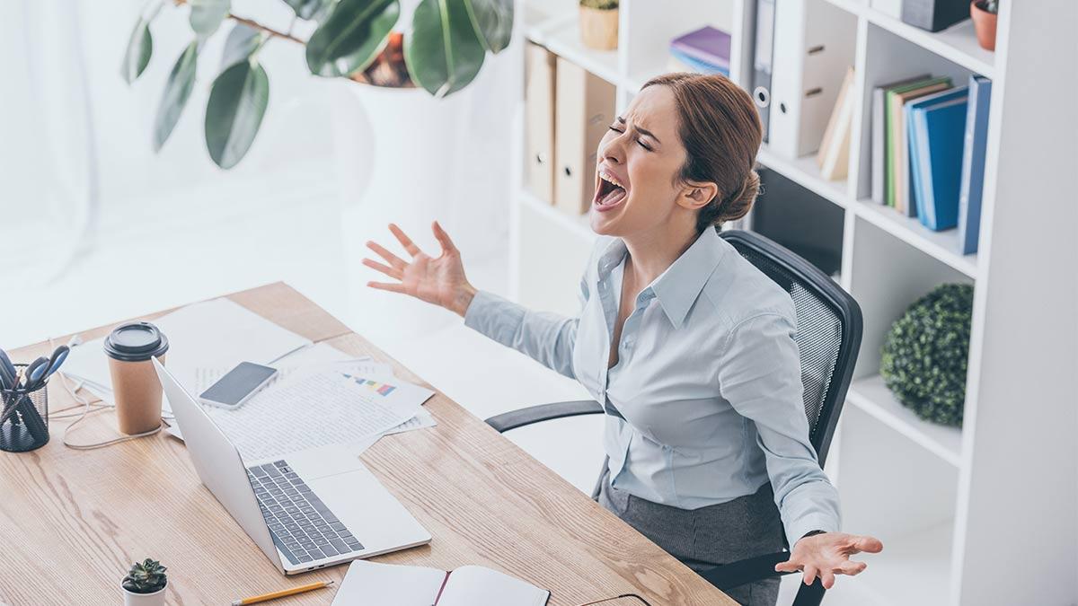 Wut im Büro